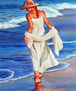 Lady On The Beach Paint by numbers