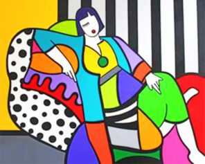 Woman Pop Art Paint by numbers