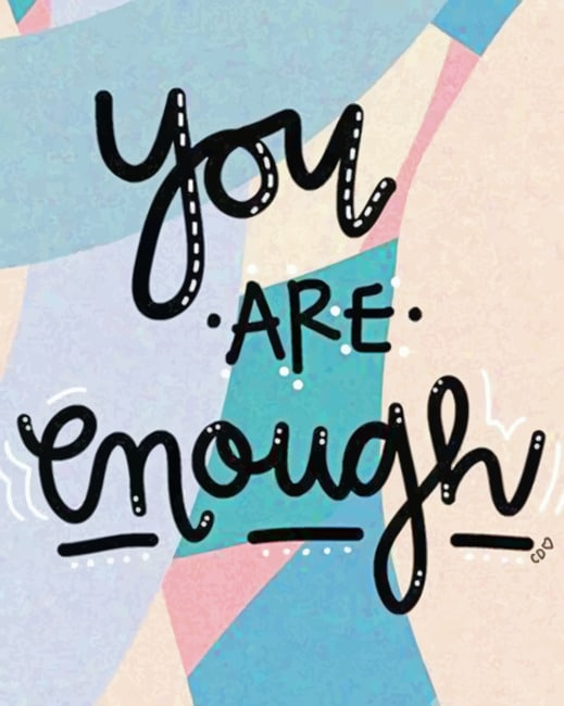 You Are Enough paint by numbers
