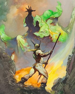 Frank Frazetta Art paint by numbers