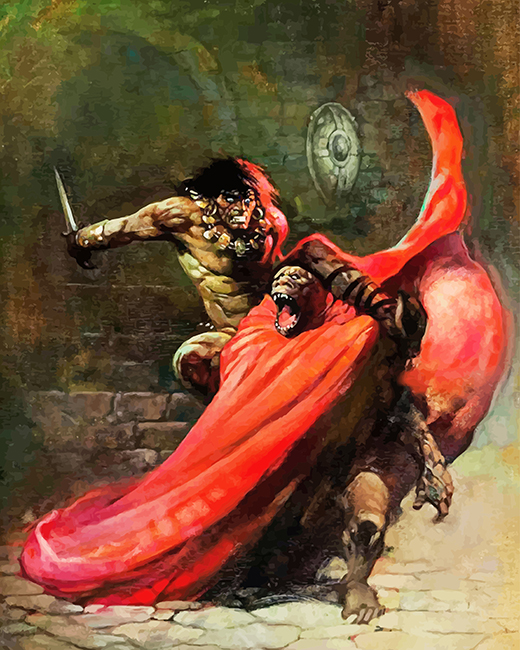 Frank Frazetta Conan Paint by numbers