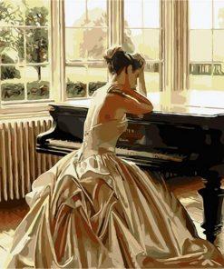 Women Sad in Piano