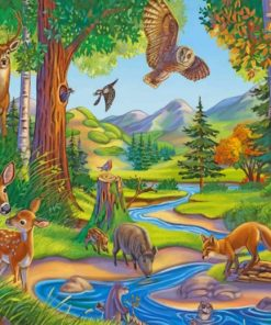 Animals Forest paint by number