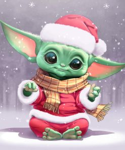 Baby Yoda Santa paint by numbers