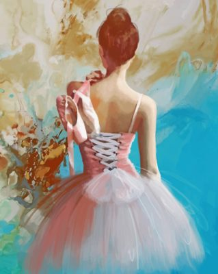 Ballerina Art paint by numbers