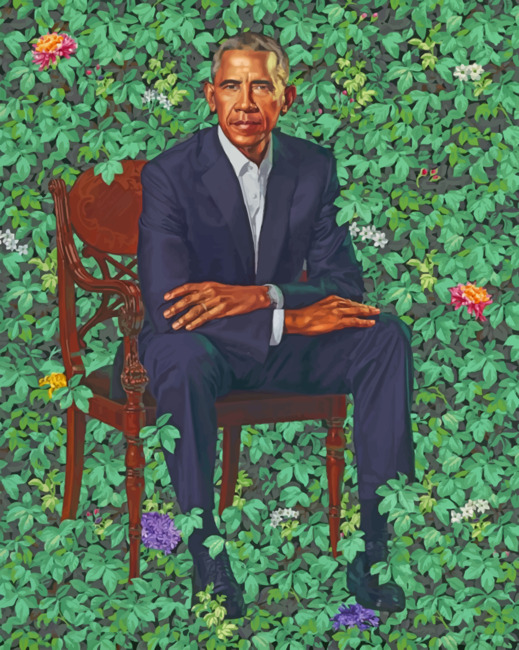 Barack Obama Art paint by numbers
