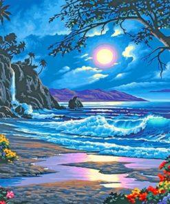 Beachside waves Islan paint by numbers