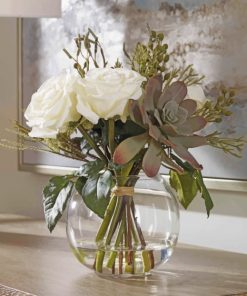 Bouquet in glass vase paint by number