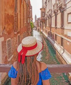 Girl In Santa Maria Rezzonico paint by numbers