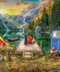 Camping In Banff Park paint by numbers