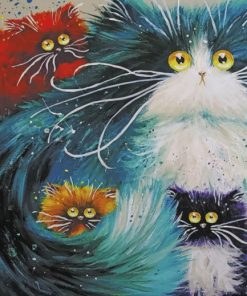 Cartoon Cats Art paint by numbers