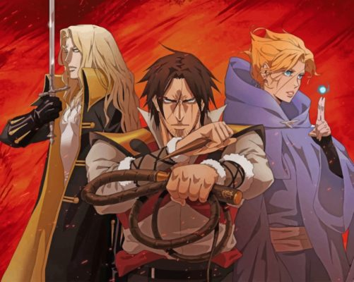 Castlevania paint by numbers