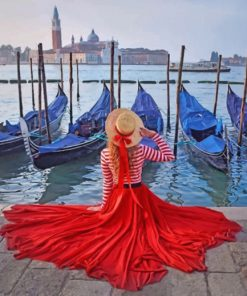 Girl In Venice Italy paint by numbers