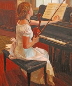 Classic Violinist Girl paint by number