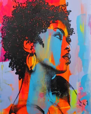 Colorful Woman Art paint by numbers