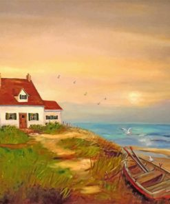 Cottage By the sea paint by number