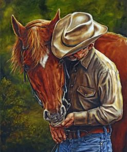 Cowboy And Horse paint by numbers