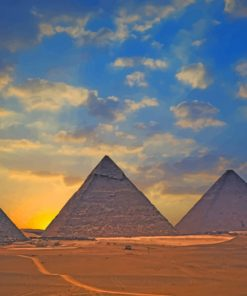 Desert Pyramids paint by number