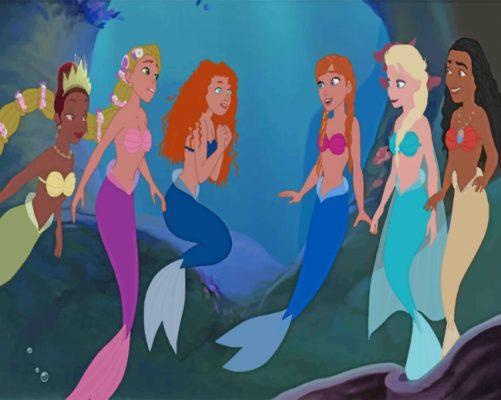 Disney Mermaids paint by numbers