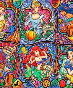 Disney Princesses paint by numbers