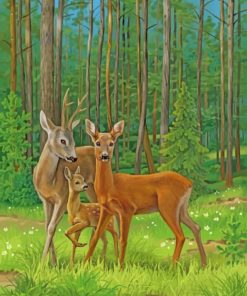 Female Deer paint by numbers