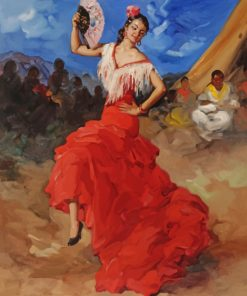 Flamenco Dancer paint by number