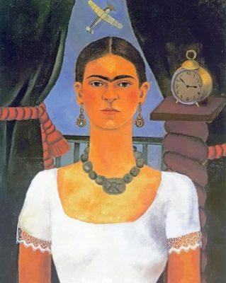 Frida Kahlo self portrait paint by number