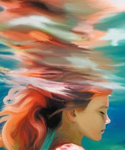 Girl Underwater Art paint by number