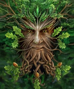 Green Tree Man paint by numbers