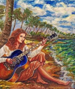 Guitarist Girl paint by numbers