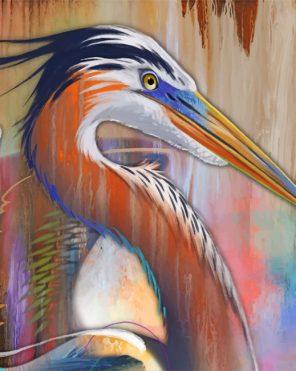 heron bird art paint by numbers