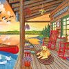 Lakeside Cabin paint by numbers