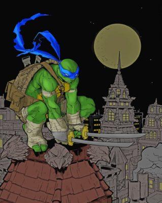 Leonardo Ninja Turtle paint by numbers
