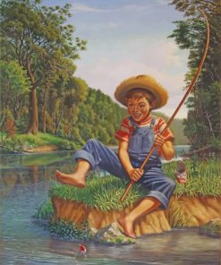 Little Boy Fishing paint by number