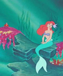Mermaid Ariel paint by number