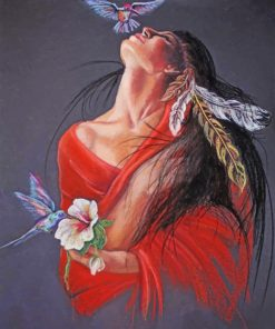 Native Woman Art paint by numbers