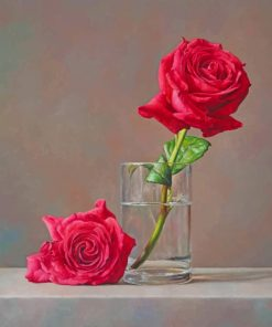 Rose Flower In Glass paint by number