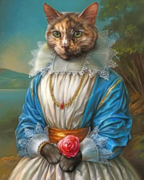 Royal cat Art paint by number
