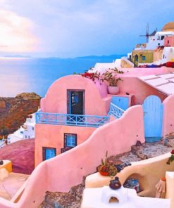 Santorini Island paint by number