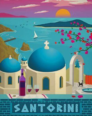 Santorini paint by number
