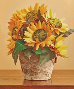 Sunflowers Pot paint by numbers