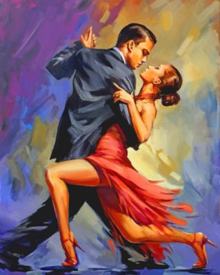 Tango Dancers Art paint by number