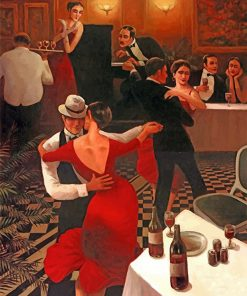 Tango Dancers paint by number