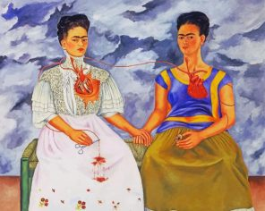 The two fridas paint by numbers