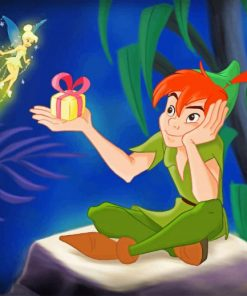Tinkerbell peter pan paint by number