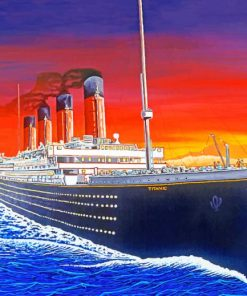 Titanic Ship Art paint by numbers