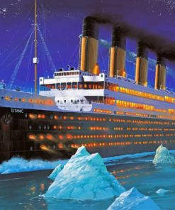Titanic Ship paint by numbers
