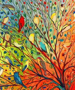 Tree Birds paint by number