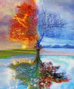 Tree Seasons paint by number