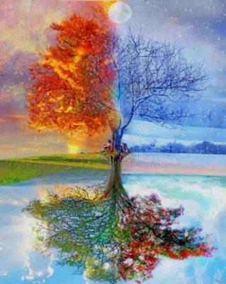Tree Seasons paint by number